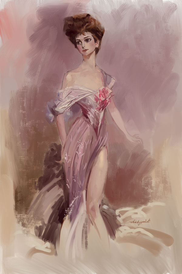 Vintage in Boldini style by whiskypaint