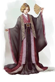 Shiori with sensu