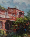 Old house (oil on canvas)