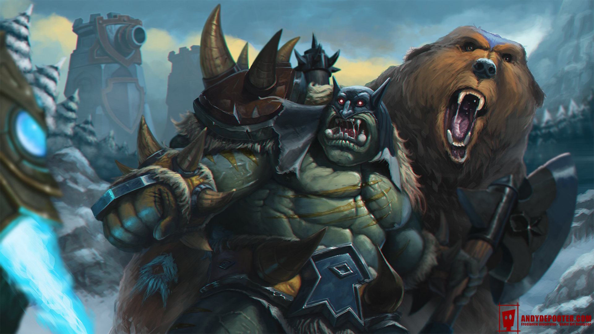 Heroes Of The Storm Rexxar And Misha By Eburone On Deviantart Every 6 seconds, rexxar and misha gain 75 physical armor against the next enemy hero basic attack, reducing the damage taken by 75%. heroes of the storm rexxar and misha