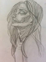 Skully the skeleton girl at midnight. by Galaxy78