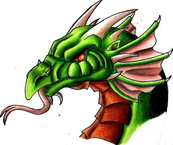 Cartoon Dragon Head By Dragon2007