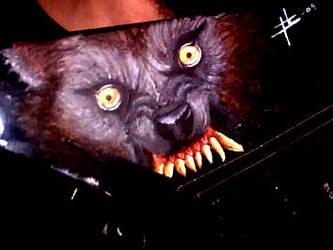 My werewolf guitar by Dragon2007
