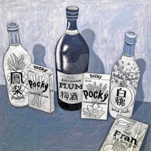 Pocky and Sake