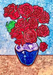Van Gogh Inspired Roses