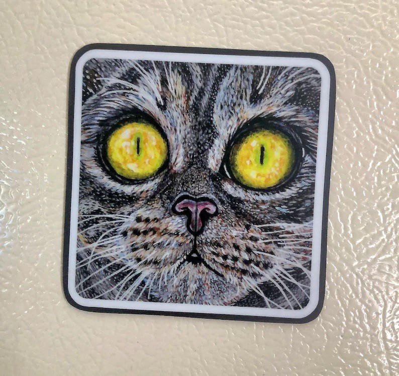Tabby Cat Magnet Square
