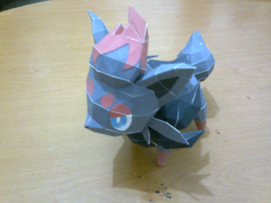 Zorua Papercraft by ShiroKoori
