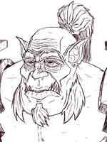 Mag'har Orc outlines - Warcraft by Iviqrr