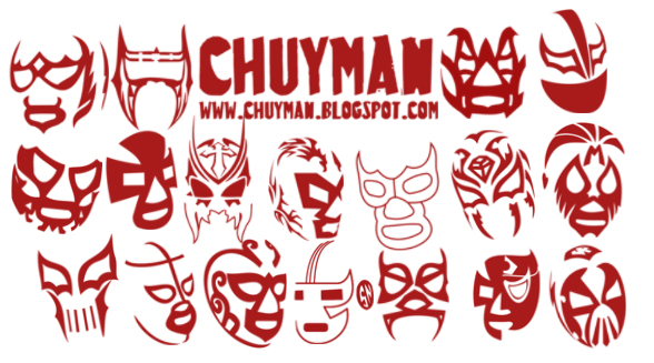 brushes lucha libre by chuyman