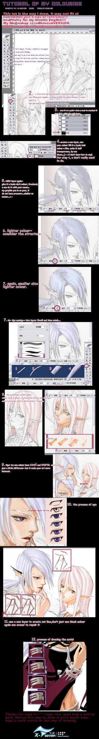 tutorial of my colouring