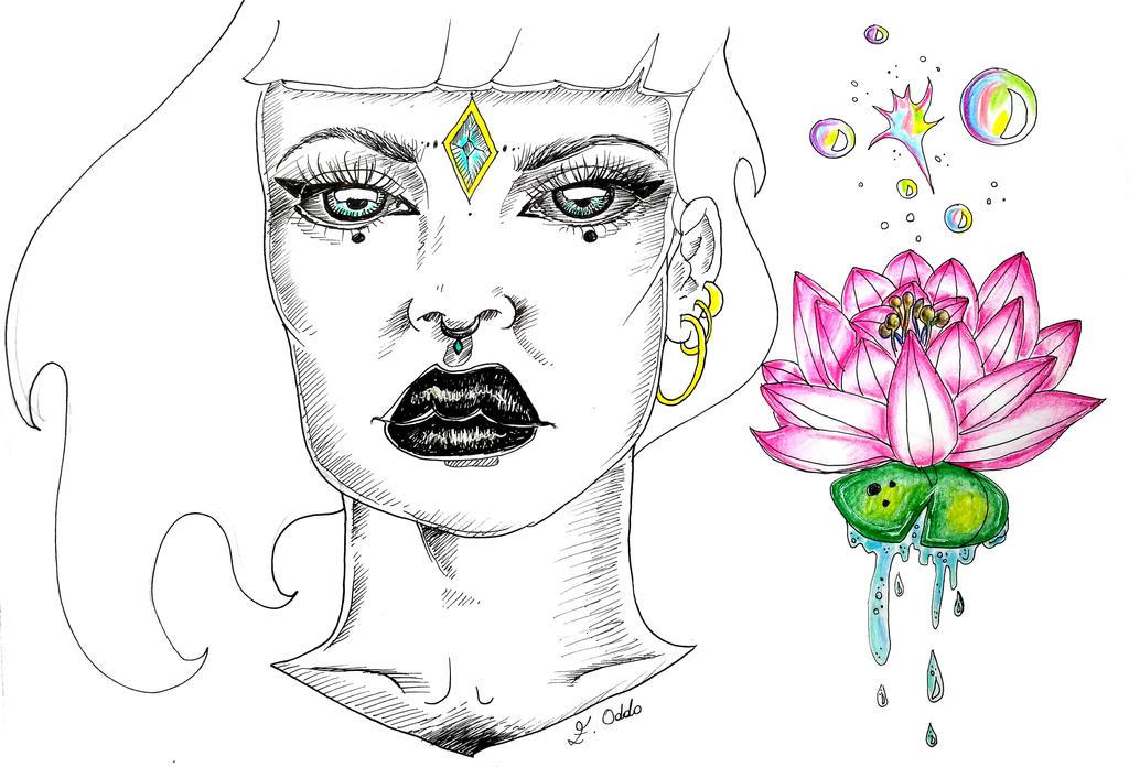 Ninfea's woman - Sketchbook by Oddoproject