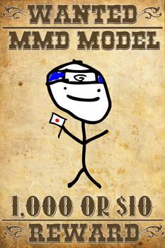 MMD Wanted: Otakune Weeaboo (Stick Figure)