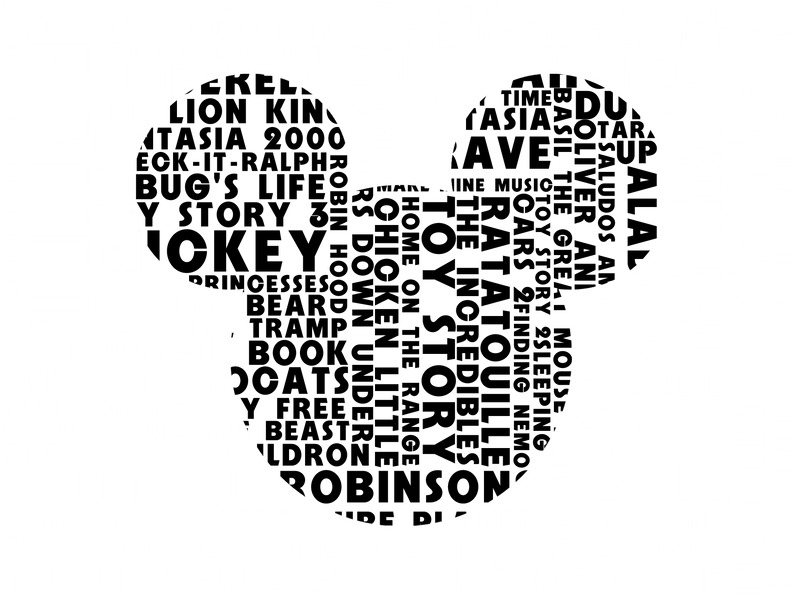 Disney Typography By J4mesg On Deviantart