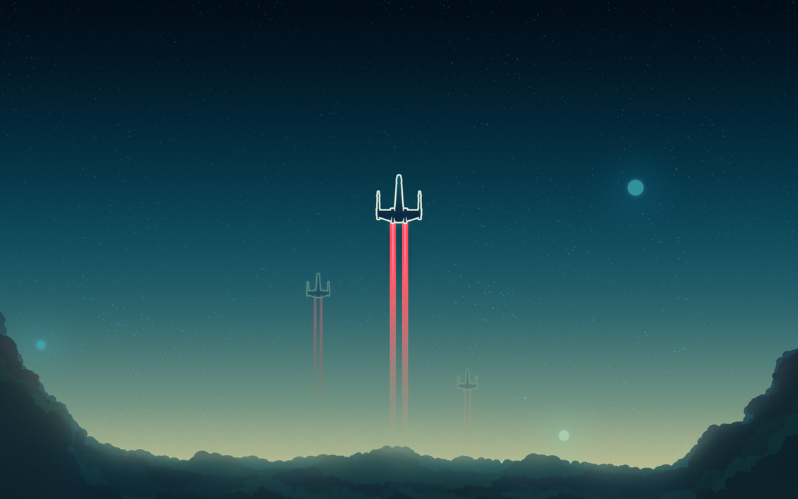 X wing wallpaper by theadamtaylor on deviantart for Deviantart minimal wallpaper