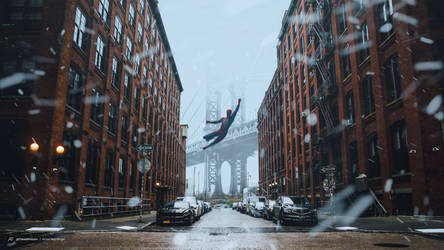 Winter Web Slinger - Spider-Man 4K Wallpaper