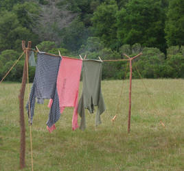 Civil War Stock: Clothesline