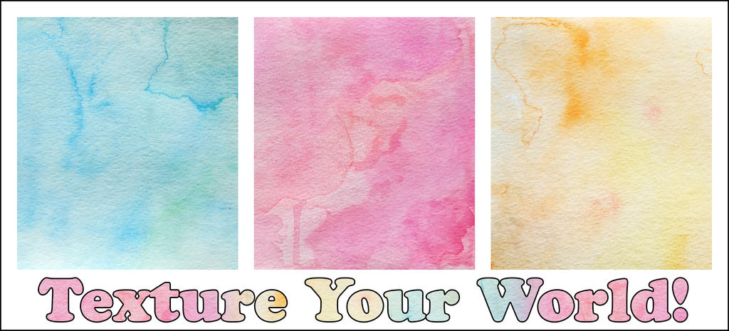 Texture Your World - Watercolor Rainbow by Spiteful-Pie-Stock