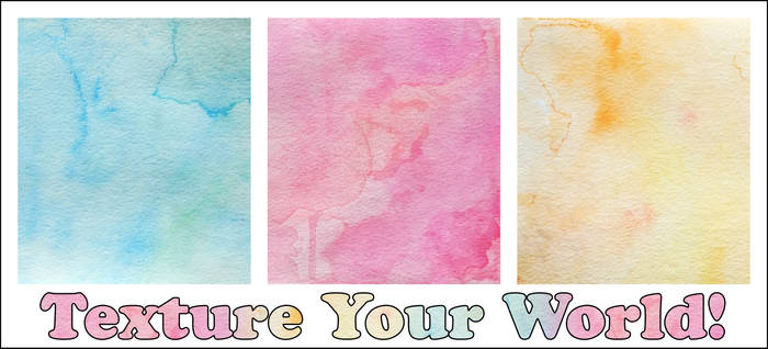 Texture Your World - Watercolor Rainbow