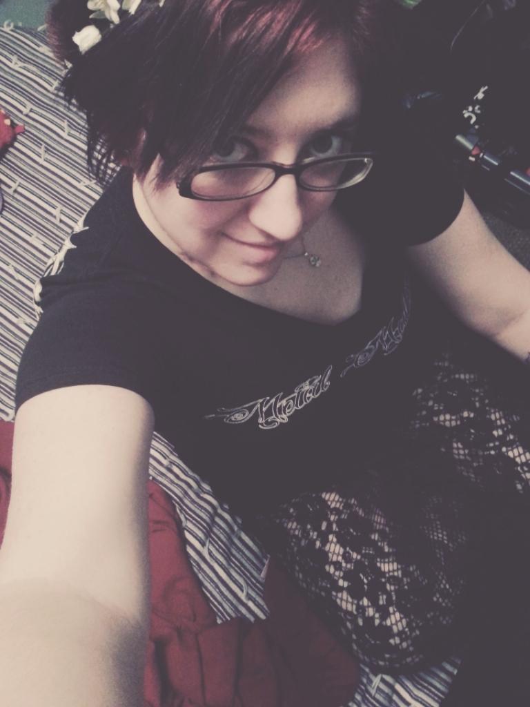 Rock girl selfie by YourEvilAddiction