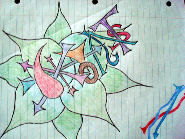Graffiti Flower Sketches Graffiti Flower Thing by