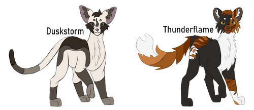 Warrior Cat Adoptables 7 - OPEN (2/2) by MouseStrike