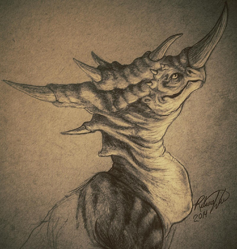 creature sketching by Grimm-Dream