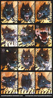 Werewolf mask by LycanthropeHeart