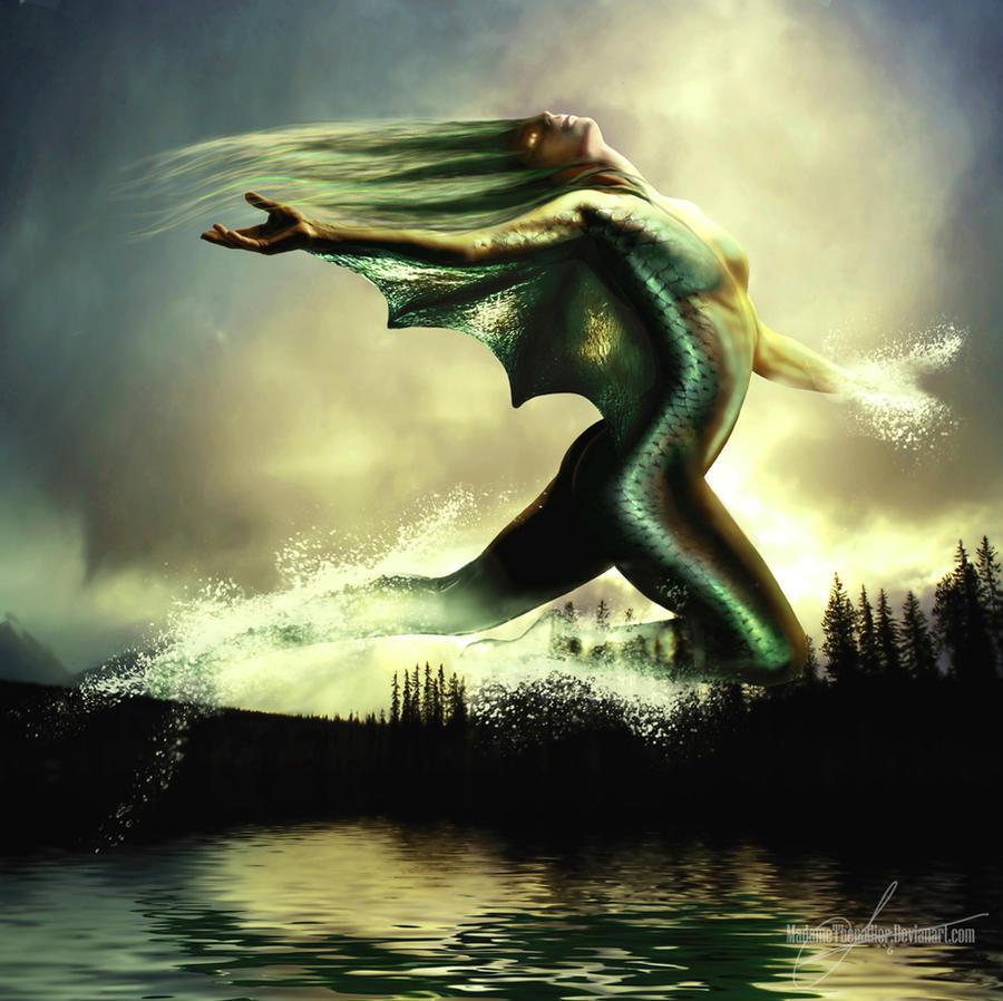 Water elemental by MadameThenadier