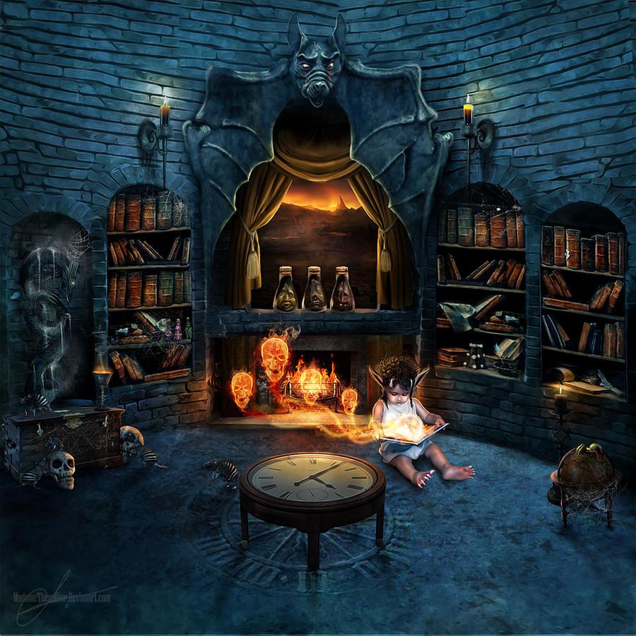 Forbidden library by MadameThenadier on DeviantArt Fantasy Library Wallpaper
