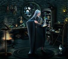 Merlin's room by MadameThenadier