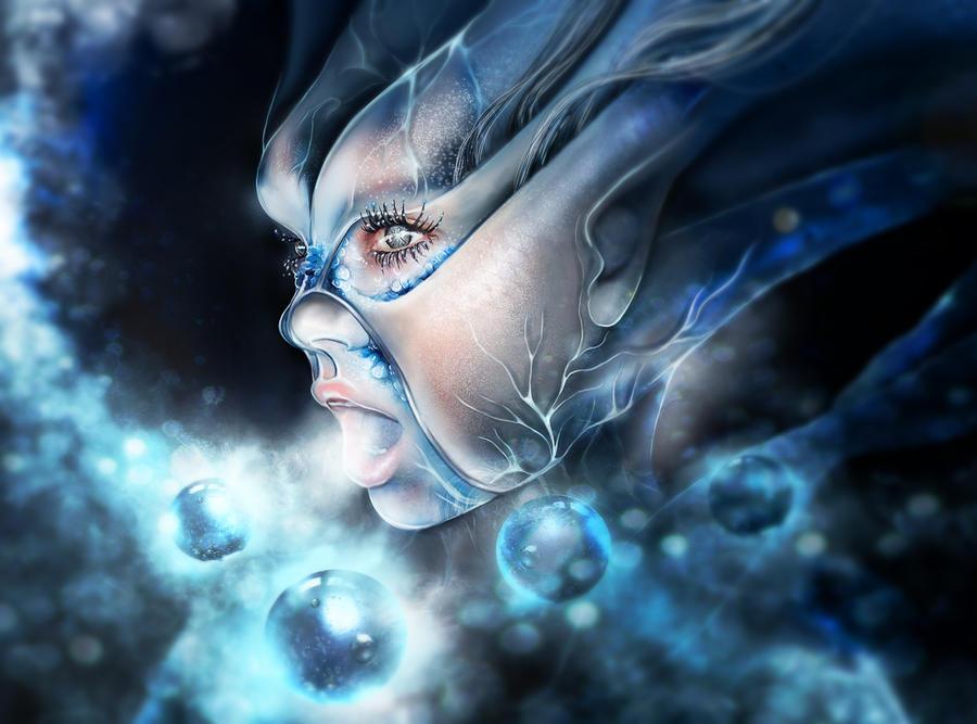 Ice nymph by MadameThenadier