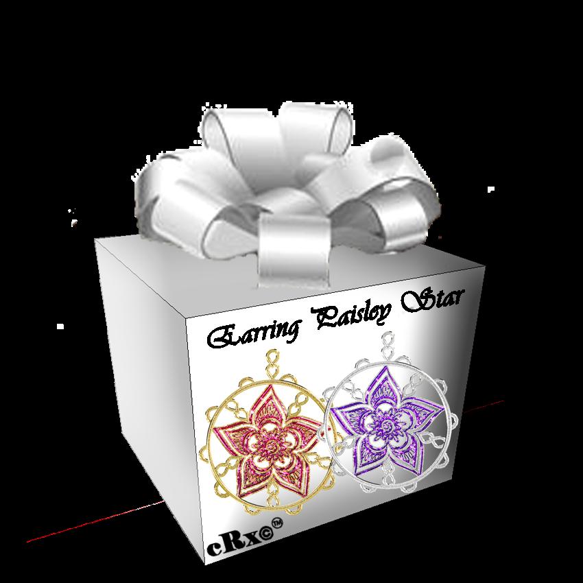 Earring Paisley Star by XxAKASHAK1LL3RxX