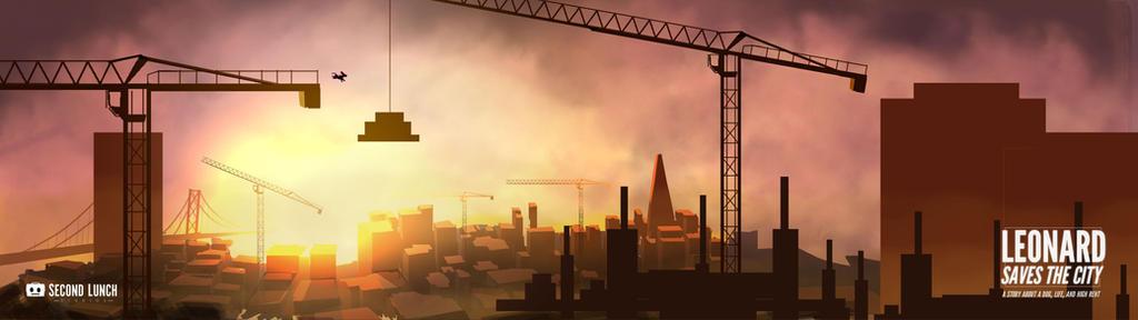 Leonard Saves the City Sunset Widescreen by Hoabert