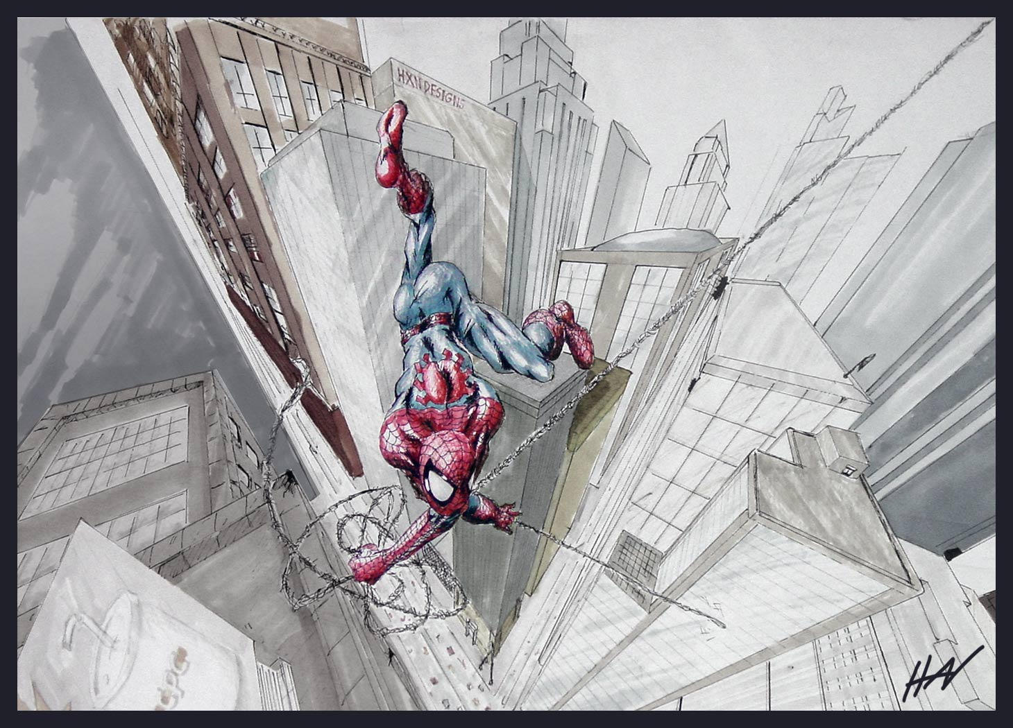 Spidey in Three Point by blacksmithx