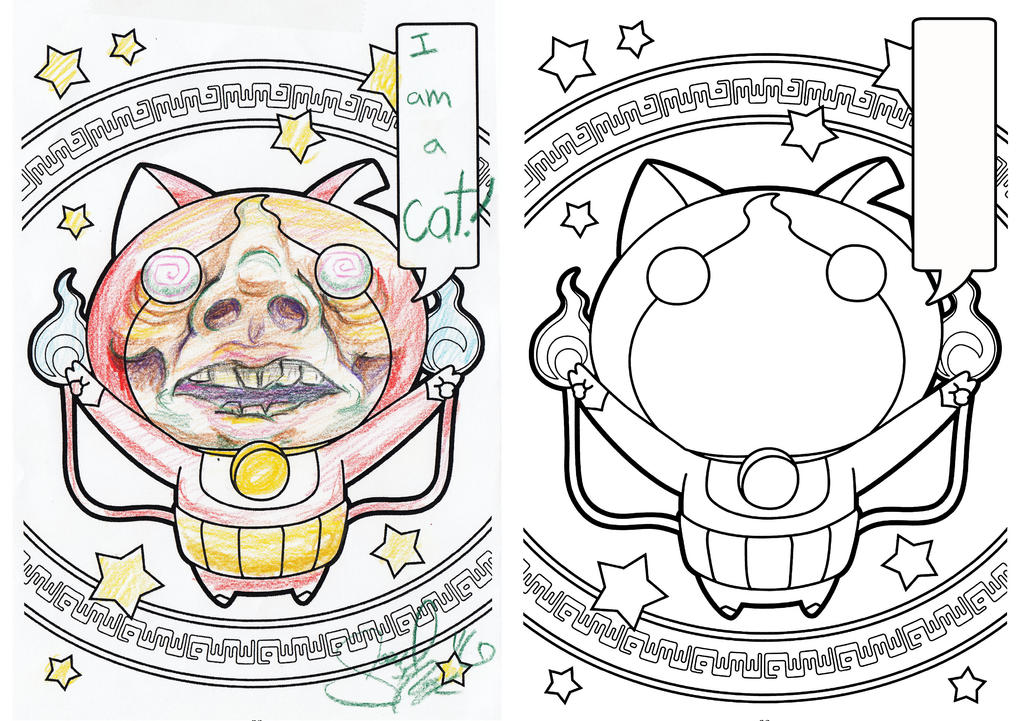 Coloring page by samueltcopp on deviantart for Yo kai watch coloring pages