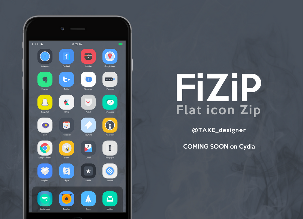 FiZiP is now on Cydia - Flat theme by taaaake on DeviantArt