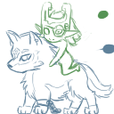 Work in Progress, Link and Midna Shimeji by ZeiaZeh