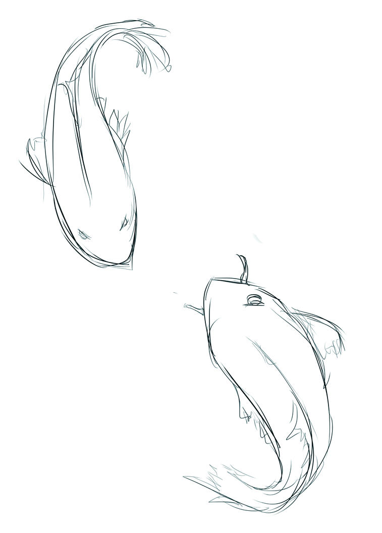 Japanese koi sketch by candyelmo on deviantart for Japanese koi fish drawing