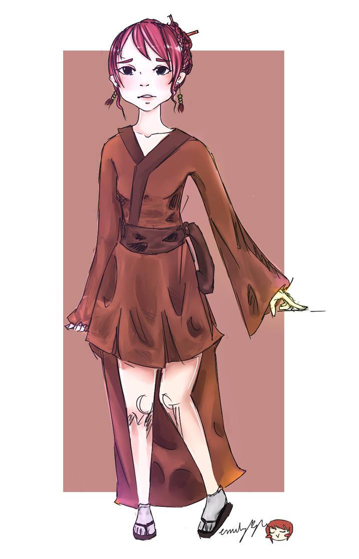 Geisha drawing by CandyElmo