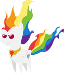 BBBFF-styled Super Rainbow Dash