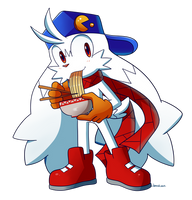 Enjoying your bowl of ramen there, eh, Lux Klonoa?