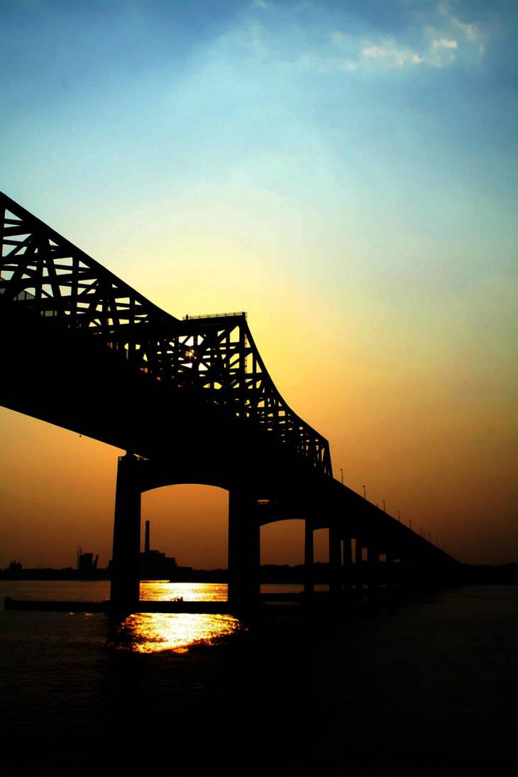Massachusetts Bridge Sunset 1