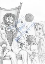 AWB Illustration Worldbuilder King and Sorceress