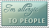 Allergic to people stamp by IsabellaBran