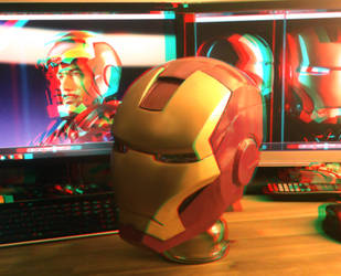 Iron Man Helmet stereoscopic 3D by Bullrick