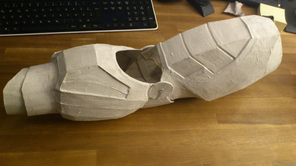Iron man cardboard arm aquaresined by bullrick on deviantart for Cardboard armour template