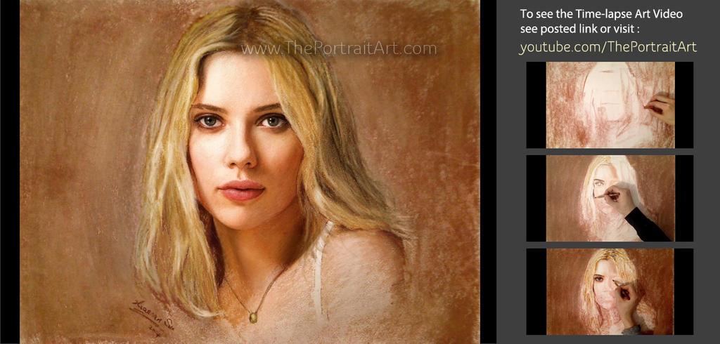 Scarlett johansson pastel drawing portrait by theportraitart on scarlett johansson pastel drawing portrait by theportraitart ccuart Images
