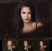 Nina Dobre Portrait in Pastel / Charcoal by theportraitart