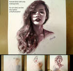 Drawing Girl Portrait with only Makeup Tools