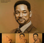 Will Smith on Toned Paper with Pastel